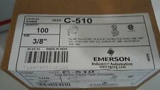 """New Emerson C-510 Two-Screw Clamp Type 3/8"""" Connector Quantity of 100"""