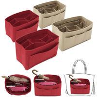 Portable Felt Fabric Purse Handbag Organizer Bag Make Up Storag Pocket Insert UK