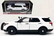 MOTOR MAX 1:24 W/B 2015 FORD POLICE INTERCEPTOR UTILITY (SLICK TOP) Diecast Car