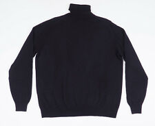 Andrew James Mens Blue long sleeved Polo neck Pure Cashmere Sweater Size L
