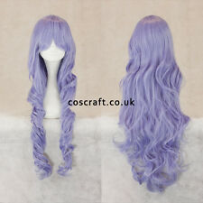 80cm long wavy curly cosplay wig in pale lilac, UK seller, Jeri style