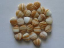 25 White/Caramel Czech Glass Triangle Jewellery Craft Beads 12x11mm