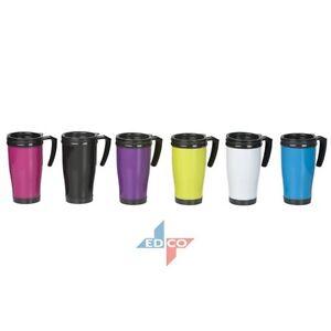 450ml Thermal Mug Hot Warm Drinks Coffee Tea Travel Flask Cup On Lid