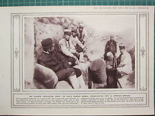 1915 WWI WW1 PRINT ~ JAPANESE ANTICIPATING KRUPP BAMBOO TRENCH-MORTAR
