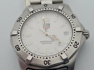 Tag Heuer Large Mens Professional divers watch Fully Working.