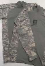 Massif Lot Of Two Multicam Army Combat Shirt Size Large Camouflage Military EUC.