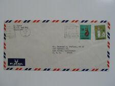 Stamp Mart : Singapore 1970 Slogan Cancel Cover Used To La Ca Usa - Dance Mask