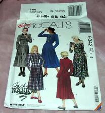 EASY UNCUT MCCALLS SEWING CRAFT PATTERN 5042 DROP WAIST LADIES DRESS SZ 12