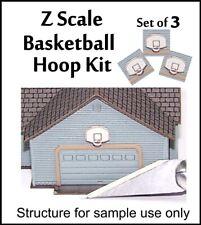 Z Scale Kit, Set of 3 Basketball Hoops by Stonebridge Models, Laser Cut, OOP