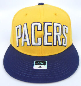 INDIANA PACERS NBA 2-TONE FLEX-FIT STRETCH SIZE ADULT S/M ADIDAS CAP HAT NEW!