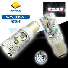 2x  P21W 382 BA15s 1156 DRL LED BULBs 50w WHITE CANBUS ERROR FREE CREE Reverse