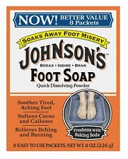 JOHNSONS FOOT SOAP POWDER 8 COUNT