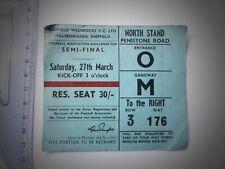 Manchester Utd - Leeds at Hillsborough 27/03/1965 Semi -Final football ticket.