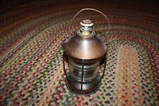 Musical lantern decanter glass & copper BEAUTIFUL TUNE