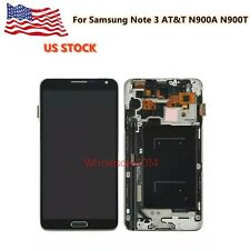LCD Screen Digitizer Touch+Frame For Samsung Note 3 AT&T N900A N900T Black US