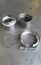 """MARMAN FLANGE 3"""" inch Turbo Exhaust Down Pipe Stainless V-Band  NO LEAKS"""
