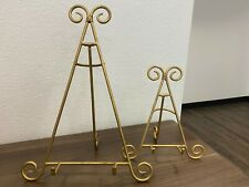 Easel Plate Art Photo Picture Frame Holder Display Stands Foldable (SET OF 2)