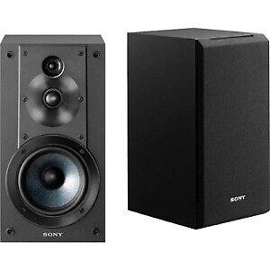Sony SSCS5 3-Way 3-Driver Bookshelf Speaker System, Black (Pair)