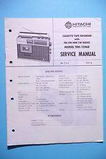 INSTRUCCIONES MANUAL DE SERVICIO PARA Hitachi trk-1246, original