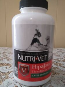 120 ct Nutri-Vet  Hip & Joint Extra Strength for Dogs Chewable Tablets