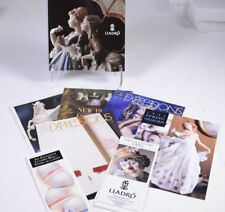Lot (6) Lladro Catalogs, Expressions Magazines & Collector Brochures 1988 - 95