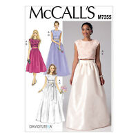 McCall's 7355 Sewing Pattern to MAKE Crop Top & Gathered Skirts Wedding / Formal