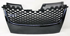 VW Jetta & GTI MK5 06-09 Badgeless Black w/ Chrome Honeycomb Hex Mesh Grill
