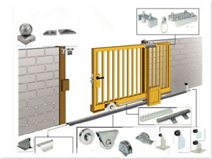 Sliding Gate Kit Hardware Stops Rollers Guides & Keeps Wrought Iron Automated