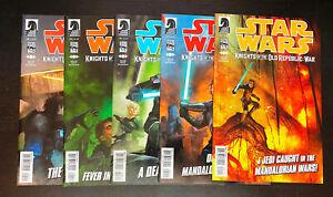 STAR WARS Knights Old Republic War (2012 Dark Horse) -- #1 2 3 4 5 -- FULL Set