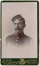 Carte de visite photograph of Victorian soldier by Weymouth photographer (C13925