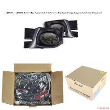New 2003 - 2005 Honda Accord 4 Doors Sedan Smoke Fog Light Wiring Kit JDM Style