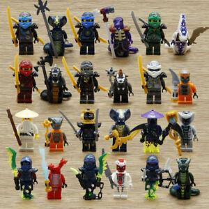 lot 24 minifig figurines ninjago serpents figure-neuf