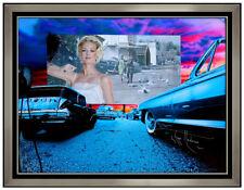 Adam Scott Rote Giclee on Canvas Drive In Daze Tippi Hedren Portrait Signed Art