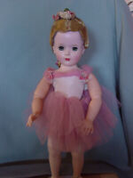 MADAME ALEXANDER VINTAGE HARD PLASTIC RARE JOINTED 18 INCH MARGOT BALLERINA DOLL