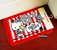 "Cute Hello Kitty Red Doormat Bath Mat Rug Pad Carpet Floor Mat 18.5"" x 26"""