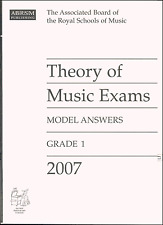 ABRSM Past Theory Of Music Exam Paper 2007 Grade 1 Model Answers Sheet Music