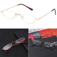 Metal Spring Hinge Reading Glasses Half Frame Ultra Light Resin Eyeglasses-