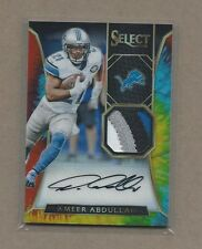 Ameer Abdullah 2016 Select Tie Dye 4 Color Jersey Auto 11/15 , Lions
