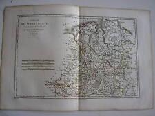 CARTE de la WESTPHALIE par BONNE carte ancienne 1787 verden mindenoldenburg ...
