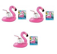 3x Aufblasbarer Flamingo Getränkehalter Becherhalter Dose Strand Pool Party