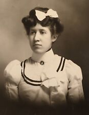 1900's Pretty Young Lady School Girl PHOTO CABINET CARD ROCHESTER New Hampshire