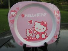 """HELLO KITTY Hearts  9 """" Plastic Plate By Trudeau  Clearance Price"""