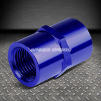 """FEMALE 1/8"""" NPT PIPE PIPING COUPLER JOINER BLUE ANODIZE ALUMINUM FITTING ADAPTER"""