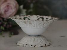 Chic antique Schale creme Spitzenkante kleines schwedenhaus shabby Tischdeko