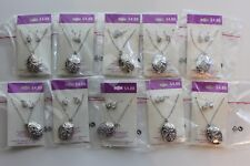 Lot of 10 Locket Necklaces and Earrings Set  New