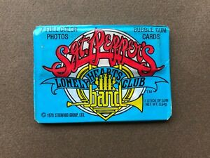 1 pack 1978 Donruss Sgt. Pepper's Lonely Hearts Club Band trading cards