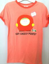 Juniors size L 11-13 TV South Park CARTMEN vintage style shirt GOT CHEESY POOFS
