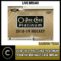 2018-19 O-PEE-CHEE PLATINUM HOCKEY 4 BOX (HALF CASE) BREAK #H679 - RANDOM TEAMS