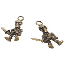 20x Hotest Charms Alloy Skull Robot Antique Bronze Pendant Fit Jewelry Making L
