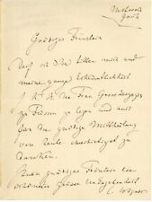 Cosima WAGNER (1837-1930) Tochter v. Liszt Bayreuther Festspiele Autograph